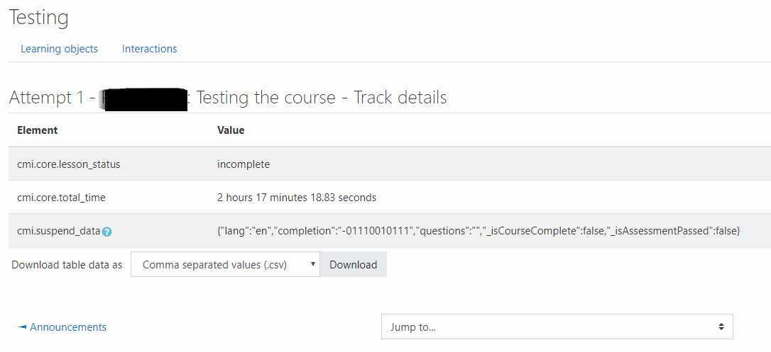 Adapt Learning Community: Adapt SCORM export, student data access as