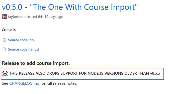 Adapt Learning Community: upgrade failed